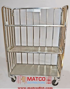 Picture of 3-Shelf Folding Cart Distribution Beverage Cart