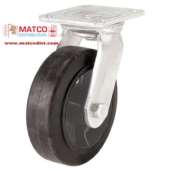 "Picture of 8"" x 2"" Mold On Rubber Swivel Caster"