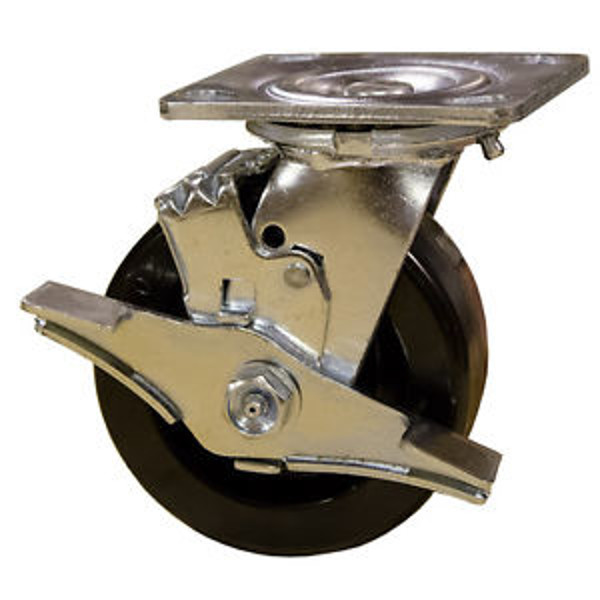 "Picture of 5""x 2"" Phenolic Swivel Caster With Brake"