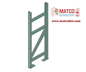 Picture of Tear Drop Pallet Rack Upright Frame 10' x 42""