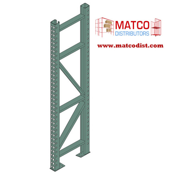 Picture of Tear Drop Pallet Rack Upright Frame 14'x 42""