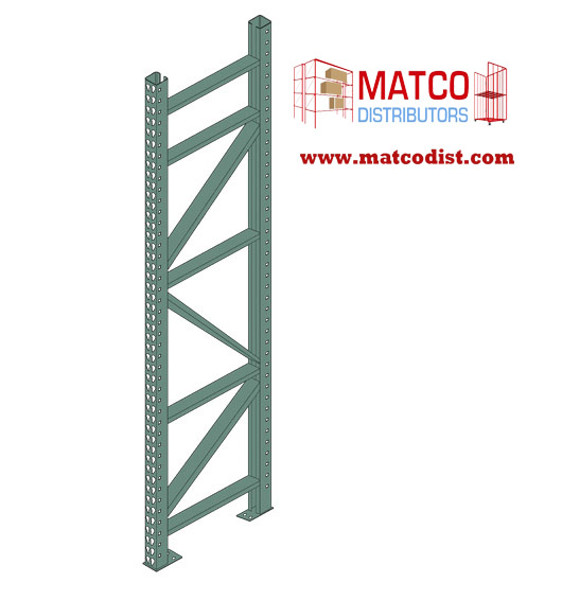 Picture of Tear Drop Pallet Rack Upright Frame 16'x 42""