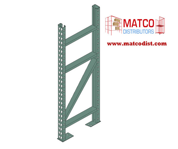 Picture of Tear Drop Pallet Rack Upright Frame 8' x 42""